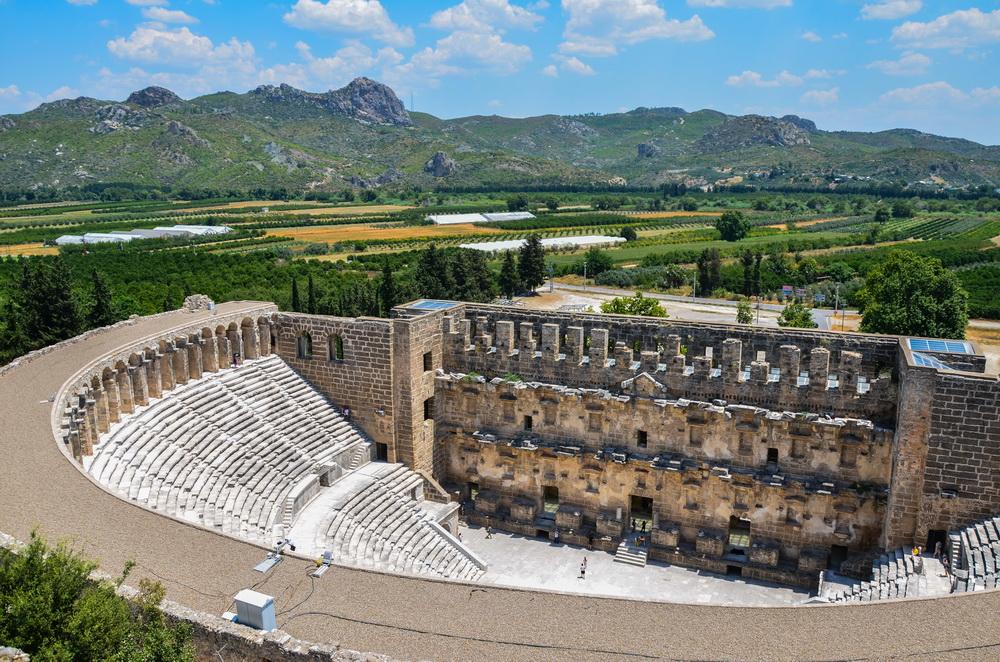 Театр Аспендоса (вид сверху)