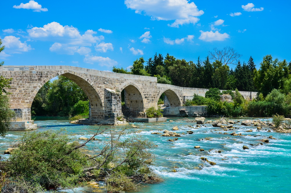 Сельджукский мост, река Эвримедон, Аспендос