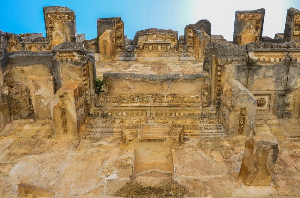 Декорации, Римский театр, Аспендос