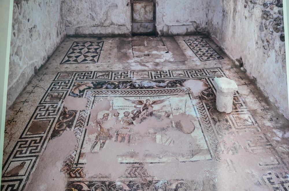 Мозаика с героями Троянской войны (Перге, Анталья))